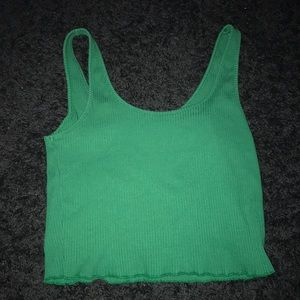 green frilly tank crop top!
